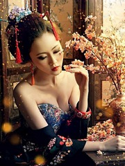 Art and erotic pictures of tender asian..