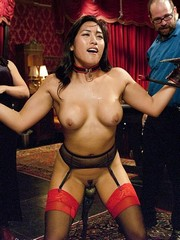 Mia Li and Carter Cruise in stockings..