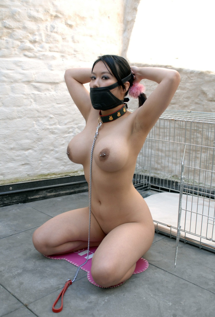 Naked asian bondage